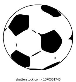 soccer ball or football, graphic, white background