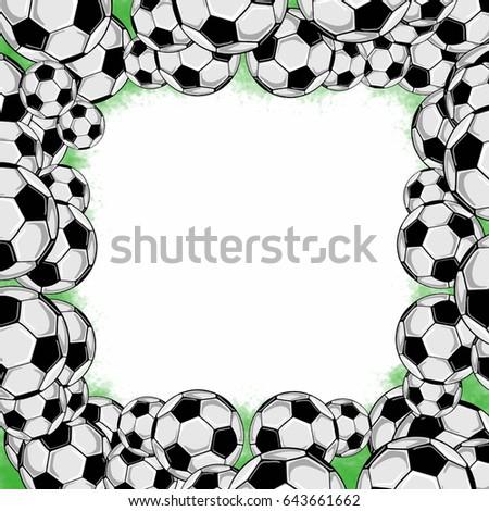 Soccer Ball Frame Stock Illustration 643661662 - Shutterstock