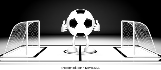 Soccer ball gate.3d illustration