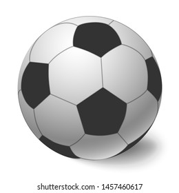 Soccer ball icon illustration. Football ball isolated.