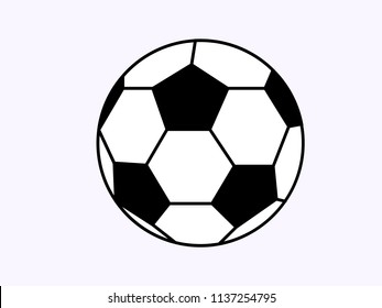 SOCCER BALL ICON ON A WHITE BACKGROUND