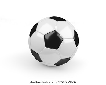 Soccer ball isolated on white with clipping path. 3d render