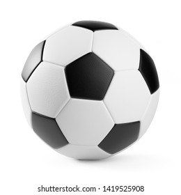 Soccer Ball isolated on white background.  Clipping path included. 3d illustration