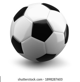 soccer ball isolated on a white background, 3D rendering.