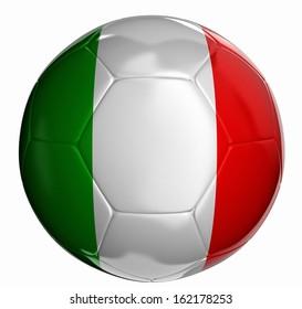 Soccer ball with Italian flag