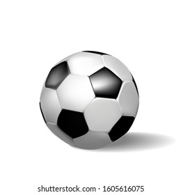 Soccer ball, on a white background.