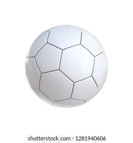 Soccer Ball White. 3D render
