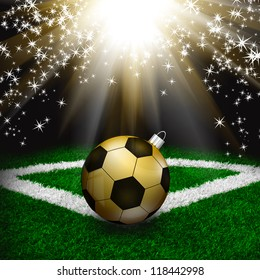 Soccer Christmas holiday background