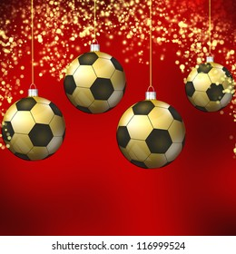 Soccer christmas hollyday background