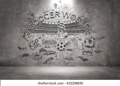 soccer doodle wall