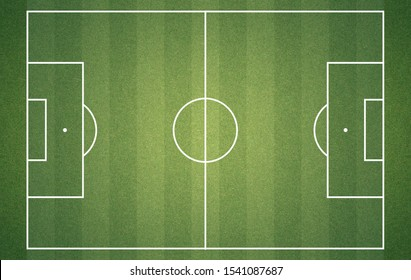 Soccer field from above. 2d illustration