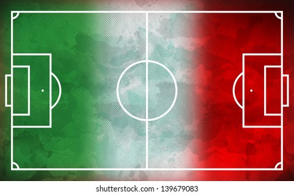 soccer field - football field - mexican colors
