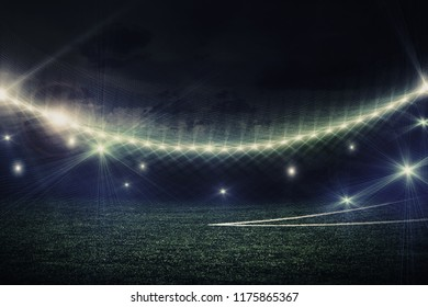 soccer field with lights