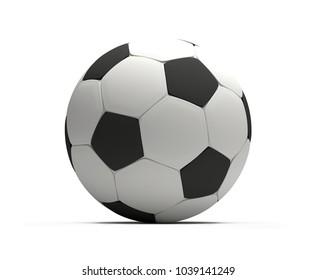 soccer football ball 3d rendering isolated