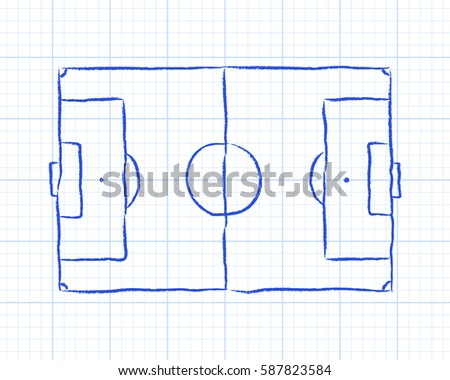 soccer football pitch diagram on 450w 587823584 royalty free stock illustration of soccer football pitch diagram on