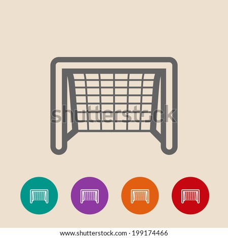 soccer goal flat icon on background stock illustration 199174466