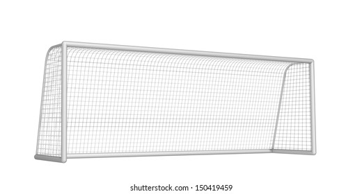 soccer goal on a white background