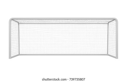 Soccer Goal Post Isolated. 3D rendering