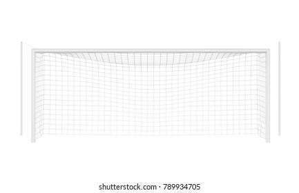 Soccer Goal Post Isolated. 3D rendering
