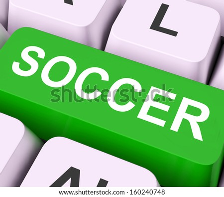Soccer Key On Keyboard Meaning Football Stock Illustration Royalty