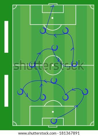 soccer play diagram instruction illustration 450w 181367891 royalty free stock illustration of soccer play diagram instruction