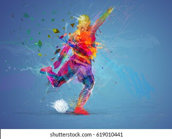 soccer player abstract concept