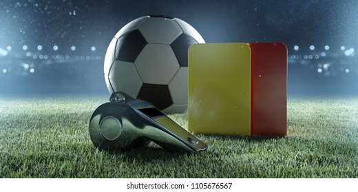 Soccer referee equipment (3D Rendering)