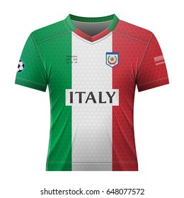Soccer shirt in colors of italian flag. National jersey for football team  of Italy. 5cd462733