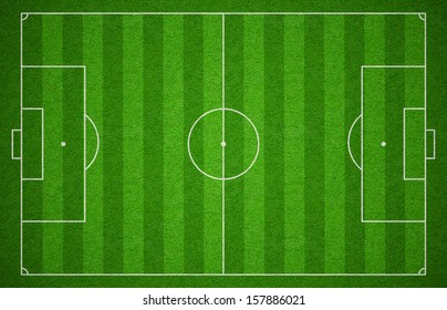 Soccer sport grass playground. Football field or pitch or stadium top view.
