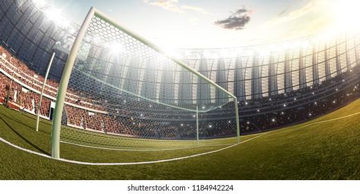 Soccer stadium, photorealistic 3d illustration, 3d render