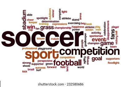 Soccer word cloud concept