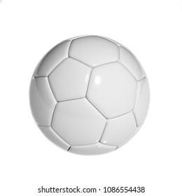 Soccer/football ball isolated on white background, 3d rendering