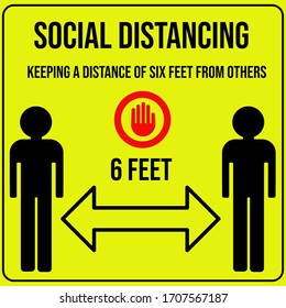 Social distancing Poster sign for office at work