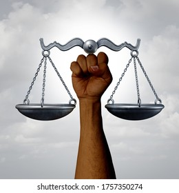 Social justice and equal rights awareness concept as a civil liberties and racial equality laws and government minority policy symbol with 3D illustration elements.