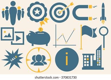Social marketing icons set