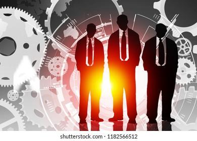 social media connexion, illustration