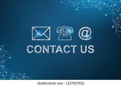 Social Media Contact Us concept.