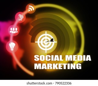 Social media marketing concept plan graphic