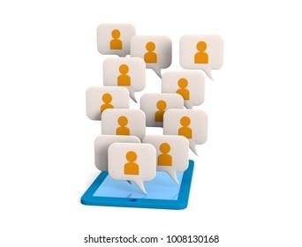 Social Network.3D illustration
