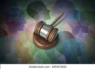 Social security law and government welfare legislation concept as government benefits rights and privacy legal issues with 3D illustration elements.