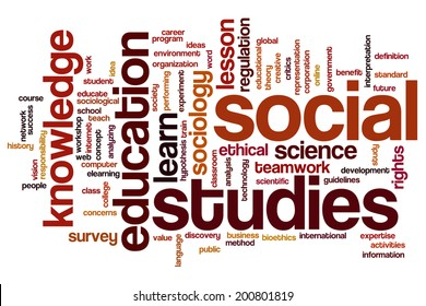 Social studies concept word cloud background