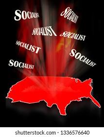 Socialism in  America in  2019.