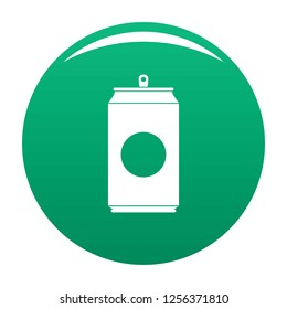 Soda icon. Simple illustration of soda icon for any design green