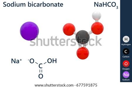 Sodium Bicarbonate Chemical Compound Formula Na Hco 3 Stock