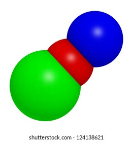 Sodium hypochlorite (NaOCl), chemical structure. NaOCl is used in household bleach, in water treatment and for disinfection.