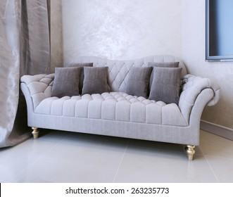 Sofa Art Deco. 3D render