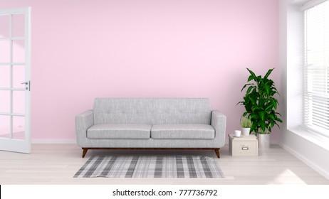Pink Sofa Images, Stock Photos & Vectors | Shutterstock