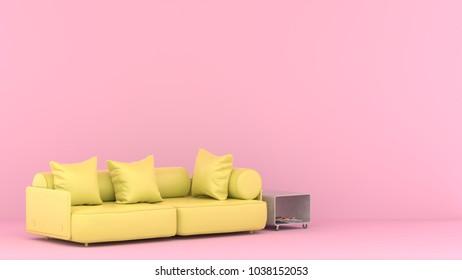 Sofa Pillow Pink Modern Living Room Stock Illustration 1038152053 ...