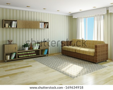 Sofa Pillows Near Window Stock Illustration 169634918 Shutterstock