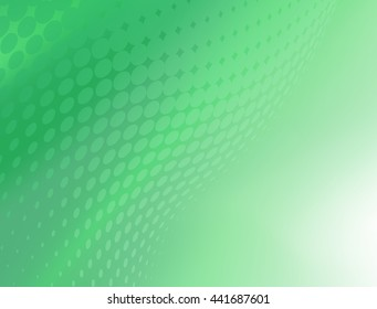 Soft Abstract Fresh Green Dot Swirl Design Background Template great for growing healthcare and various other businesses. Plenty of space for text.